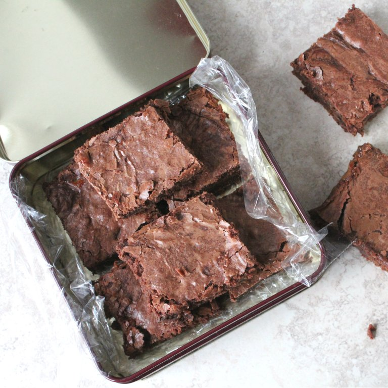 Salted Caramel Stuffed Brownies 8