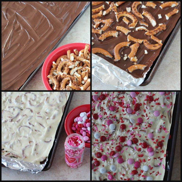 chocolate covered pretzel bark 1