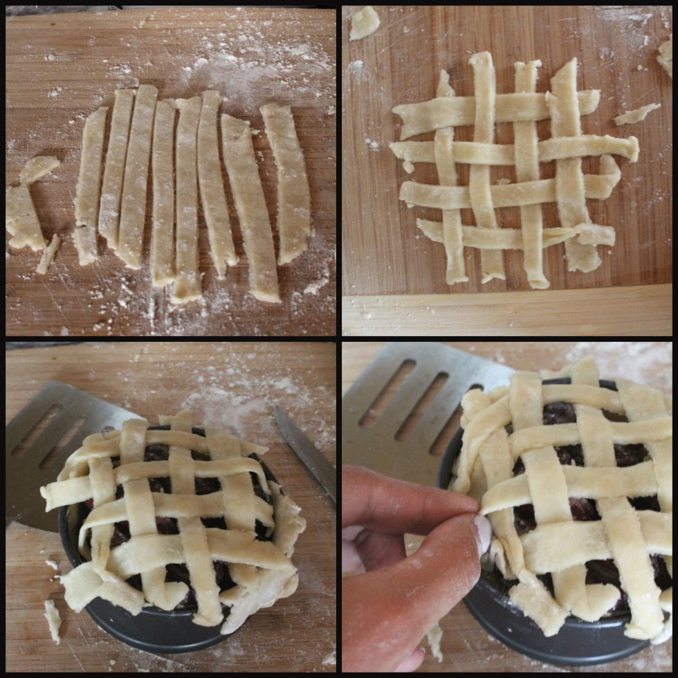 cherry pie collage