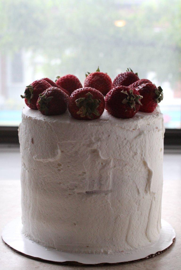 strawberry layer cake 6